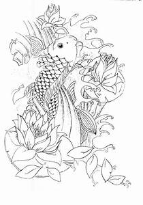 Koi Tattoo Outline Pictures to Pin on Pinterest - TattoosKid