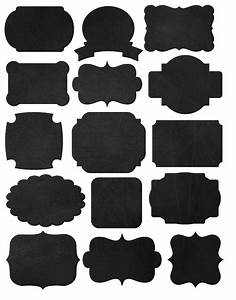 Doodlecraft freebies printables labels and chalkboard fonts for Black labels for printing
