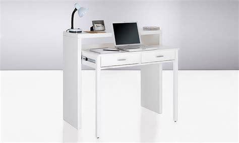bureau peu encombrant bureau console extensible groupon shopping