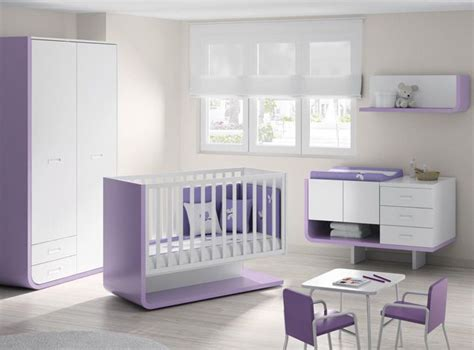 Ros1sa Möbel Ideen Babyzimmer Komplett Weiß Lila Modern