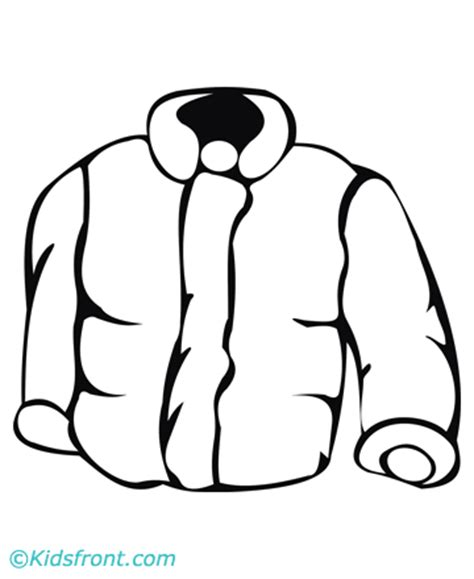 jacket coloring pages printable