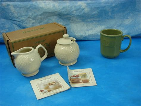 The right condiment set for milk and sugar is something no coffee table can be without. New LONGABERGER SUGAR CREAMER Cream SET & COFFEE MUG Cup | eBay