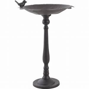 Mangeoire Oiseaux Sur Pied : bain oiseaux sur pied en fonte ~ Teatrodelosmanantiales.com Idées de Décoration