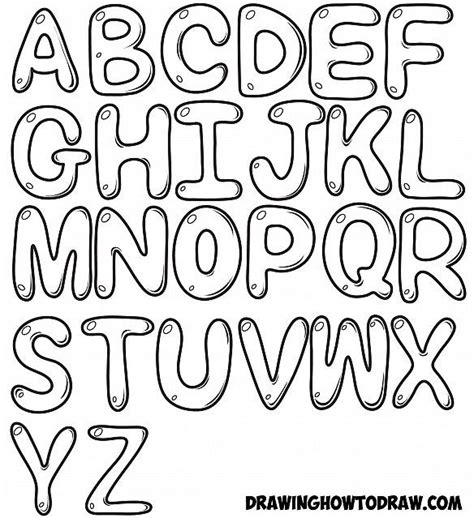 draw bubble letters  easy step  step drawing