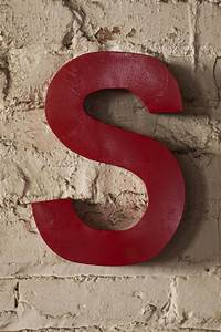 17 best images about red letters on pinterest industrial for Red metal letters