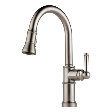 brizo faucets kitchen faucet com 63025lf ss in brilliance stainless by brizo