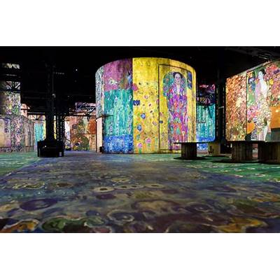 gustav klimt's works drip with life from these giant wall
