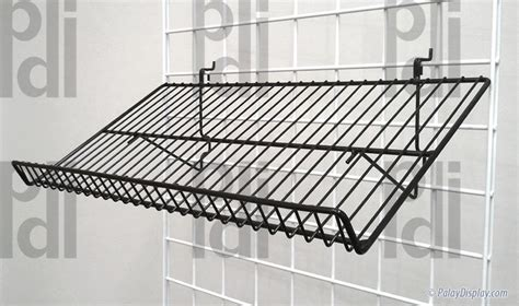 universal slanted display shelf  lip gridwall slanted display shelf slatwall slanted
