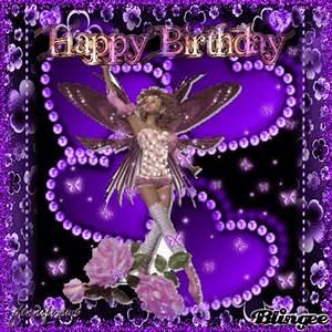 purple birthday fairy Picture #114228963   Blingee.com