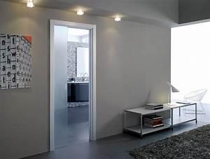 Porte Coulissante Vitree : porte coulissante salle de bain comment la choisir ooreka ~ Dode.kayakingforconservation.com Idées de Décoration