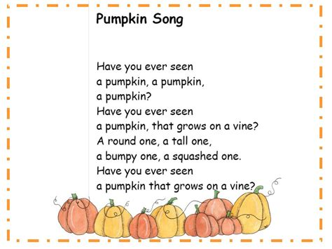 a s touch more pumpkin songs 134 | pumsong