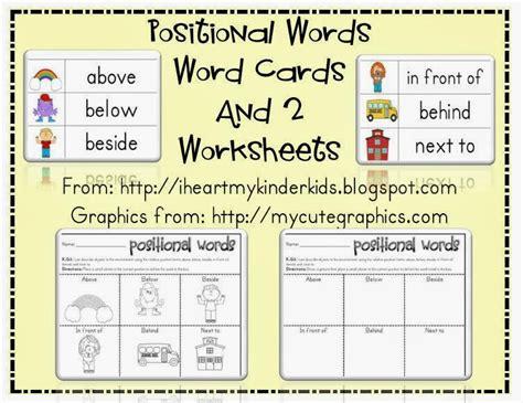 Spanish Positional Words Worksheet Preschoolers
