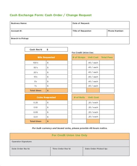 money order forms  samples examples format