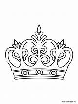 Crown Coloring Pages Printable Recommended sketch template