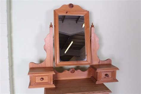solid pine adjustable dressing table mirror  drawers