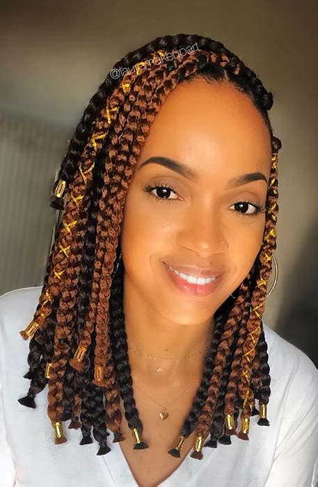 Cornrow braids for kids look really cool when they are styles with fun beads. 23 Short Box Braid Hairstyles Perfect for Warm Weather | Page 2 of 2 | StayGlam