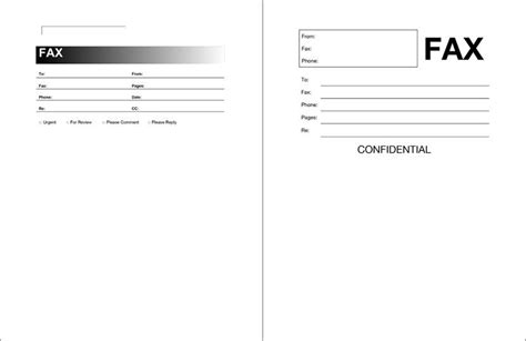 fax cover sheet template format   printable