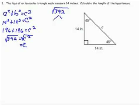Special Right Triangle 45 45 90 Overview Youtube