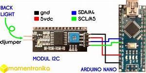 Mamentronika  Tutorial Menyalakan Lcd 16x2 Menggunakan Modul I2c
