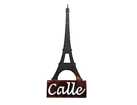 Eiffel tower metal wall art. SMW113 Custom Metal Decor Eiffel Tower Wall Art - Sunriver Metal Works