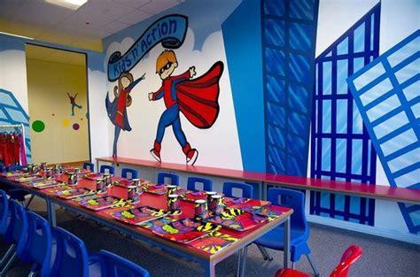 superhero party room  kidsnaction picture  kids