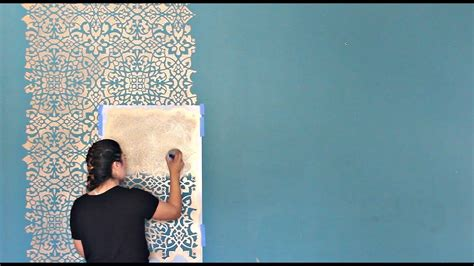 stencil  diy wallpaper    painting