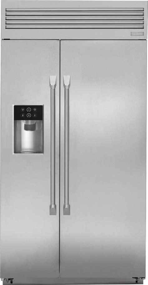 ge zispdxdss monogram   professional design built  side  side refrigerator