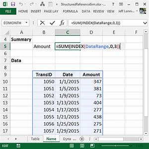 Simulate Structured References in Named Ranges | Excel ...