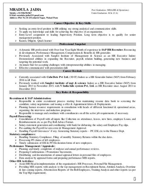 How To Put Consulting Experience On A Resume by Mradula Cube Resume 2
