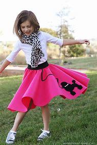 Homemade Poodle Skirt Costume