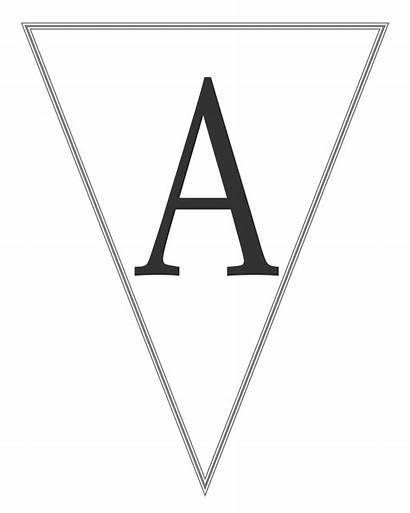 Banner Letters Printable Letter Alphabet Banners Birthday