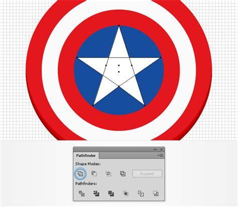 create  captain america shield icon  adobe illustrator