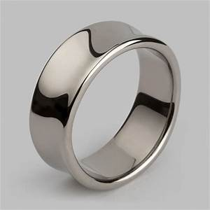 Liquid wide ring in white gold mens wedding rings for Wedding rings under 150