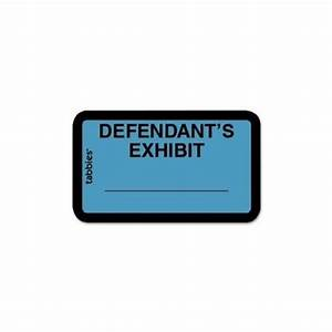 buy tabbies tab58090 legal exhibit labels exhibit1 63 With exhibit label template