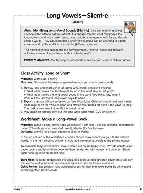 lesson plan for teaching vowels vowels silent e kindergarten reading lesson plans