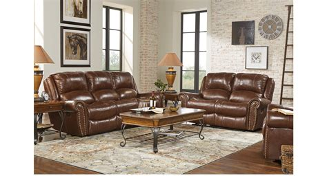 219999 Abruzzo Brown 3 Pc Leather Living Room
