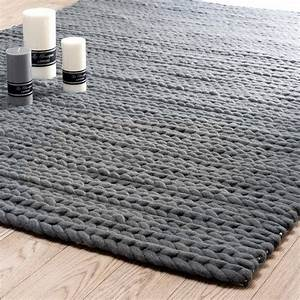 tapis gris anthracite stockholm 160x230 maisons du monde With tapis gris anthracite