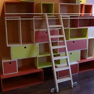 Bibliotheque Ikea Enfant : echelle bibliotheque bois maison design ~ Teatrodelosmanantiales.com Idées de Décoration