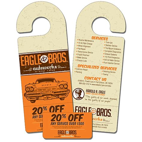 custom door hangers door hangers custom printing services company