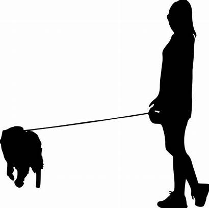 Walking Silhouette Dog Transparent Person Clipart Woman