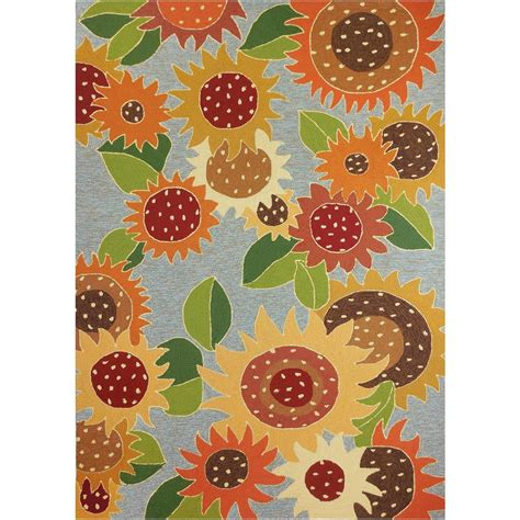 Sunflower Area Rug by Sunflower Impression Gold 5 Ft X 7 Ft Indoor Outdoor