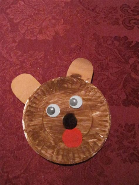 paper plate bear  learners crafts paper plates