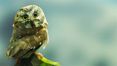 Background Digital Owl Wallpaper by Animals Digital Artwork Gradient Simple Background