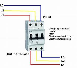 3 Phase Breaker Wiring Connection In Urdu  Hindi