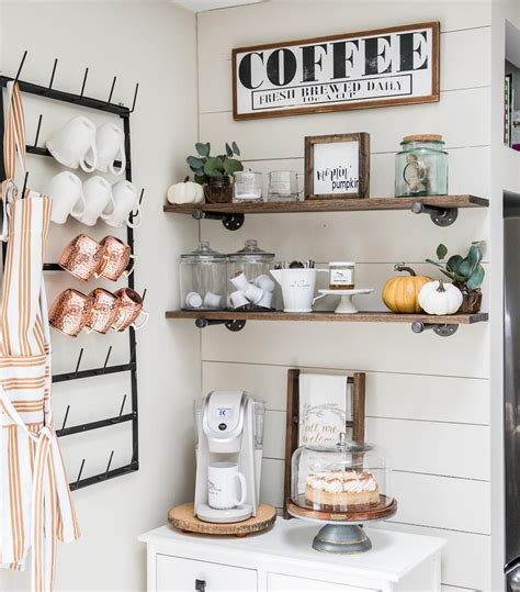 Do you find designing your very own coffee bar a challenge? Just 7 Farmhouse Coffee Bar Ideas Guaranteed to Brighten Up Your Morning Routine   Hunker in ...