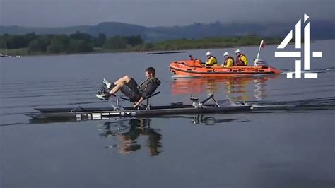 Man Powered Hydrofoil Boat by Attempting To Break World Record In Human Powered Boat