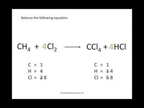 Balancing Chemical Equations  Chemistry Tutorial Youtube