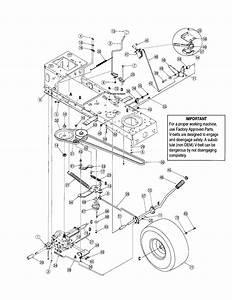 Troy Bilt Pony Deck Spring Diagram
