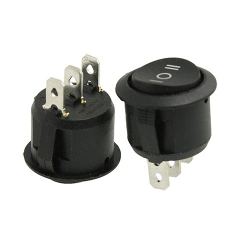 l on off switch 2x 3 position on off on round rocker switch circular black