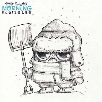 Chris Ryniak Drawings Monster Coloring Scribbles Morning
